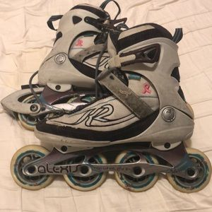 Alexis Women's roller blades size 8 worn toes